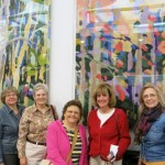 Members of Colorado Columbine ANG visit the tapestries at convention center.