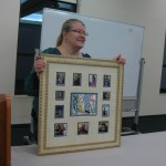 Jane's framed piece wowed 'em at Show & Tell