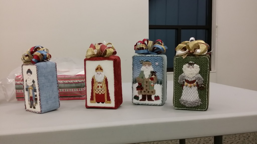 Four adorable Petei Santas by Shirley M.