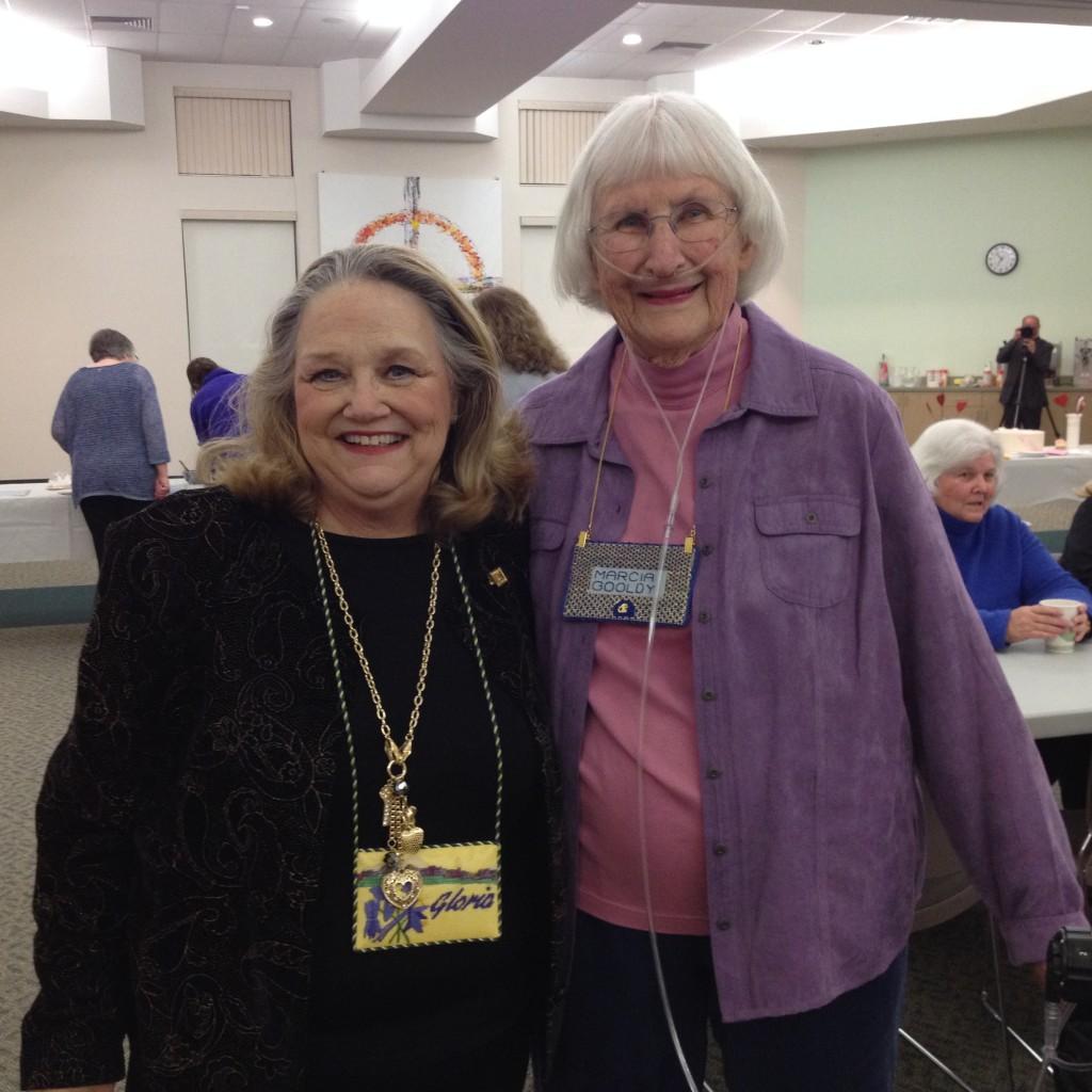 Gloria and Marcia G.